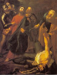 De gevangenneming van Christus, Petrus slaat Malchas een oor af