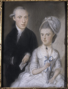 Dubbelportret van Pieter Elias (1756-1813) en Anna Elisabeth van Couwenhoven (1757-1827)