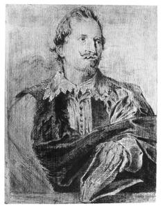 Portret van de geleerde en archivaris Gaspar Gevartius