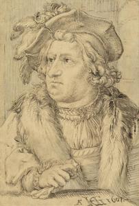 Portrait historié van een man met baret