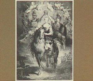 Portret van Marie-Thérèse van Oostenrijk te paard