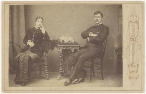 Portret van Anna van Vollenhoven (1862-1924) en Josua Marius Willem van der Poorten Schwartz (1858-1915)