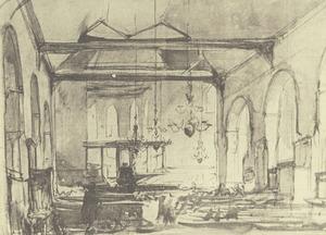 Interieur van de Geertekerk te Utrecht