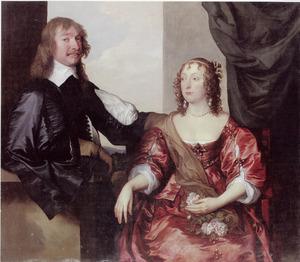 Dubbelportret van John Hamilton, later 1st Lord Belhaven and Stenton (?-1679) en zijn vrouw Margaret