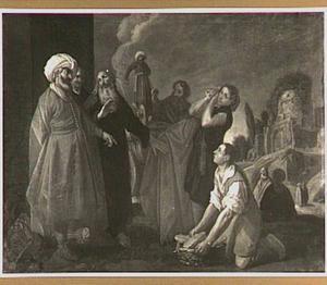 Elisa weigert de geschenken van Naäman (2 Koningen 5: 15-17)