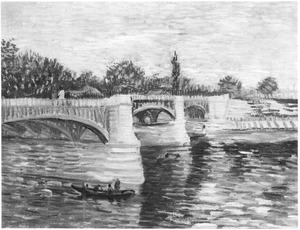 Brug van Grande Jatte naar Boulevard Bineau genaamd Pont de Bineau