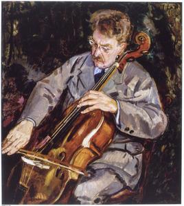 Portret van de cellospeler Toon Nolet (1867-1961)