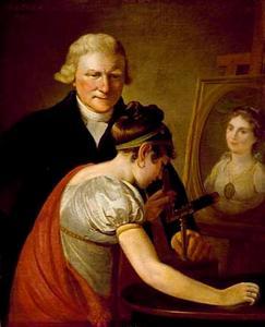 Portret van Jan Anthonie van Hemert (1746-1822) en een nicht van de schilder Adriaan de Lelie