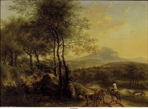 Berg- en rivierlandschap in Italië