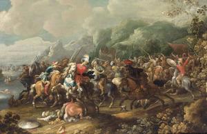 Ruitergevecht tussen Turken en Europeanen