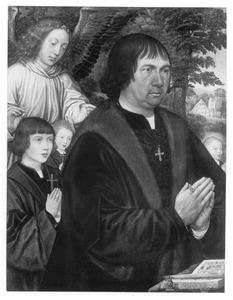 Portret van Lievin van Pottelsberghe en zijn zonen