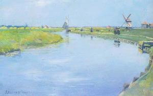 Een Hollandse rivier in de zomer