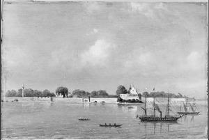Reis van Suez naar Nagasaki via Oost-Indië: landingsplaats 'Point de Calle' Ceijlon