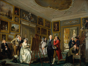 De kunstgalerij van Jan Gildemeester Jansz. (1744-1799) in zijn huis aan de Herengracht in Amsterdam