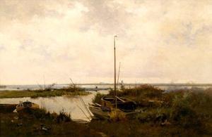Rivierlandschap bij Giethoorn