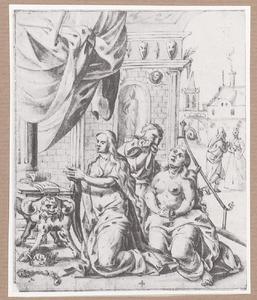 Ester vast en bidt voor de redding van de joden (Ester Apocrief 14)