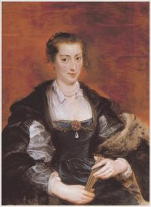 Portret van een vrouw, traditioneel geïdentificeerd als Isabella Brandt