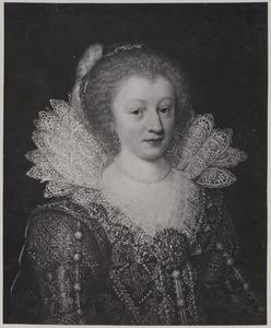 Portret van vrouw, mogelijk Amalia Elisabeth van Hanau - Munzenberg (1602-1651)