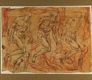 Studies voor Heilige Hieronymus, benen en torso's
