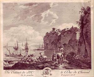 Een zeehaven met schepen