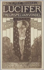 Affiche voor 'Lucifer. Treurspel van Vondel.'