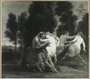 Verliefde centaurs in een landschap