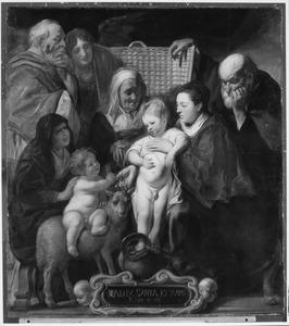 De H. Familie , de H. Anna en Johannes de Doper als kind met zijn ouders