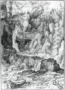 Waterval in gebergte