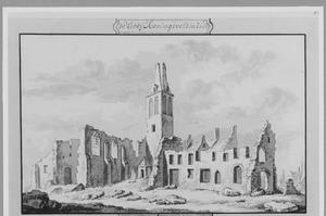 Ruïne van abdij Koningsveld bij Delft