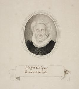 Portret van Clara Colijn (1543-1619)