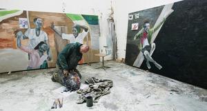 Ronald Ophuis in zijn atelier