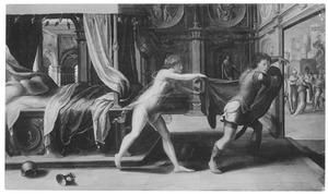 Jozef door Potifars vrouw belaagd (Genesis 39: 7)