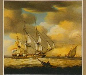 De Minerva voor de kust van Vlissingen
