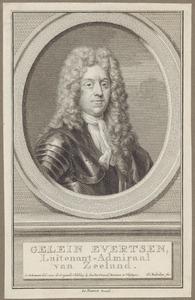 Portret van Gelein Evertsen (1655-1721)