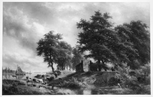 De Elshout sluizen bij Kinderdijk