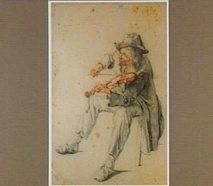 Een vioolspelende man