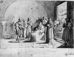 Rafaël door Bramante voorgesteld aan paus Julius II