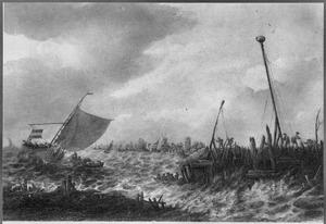 Schepen op de rede van Dordrecht