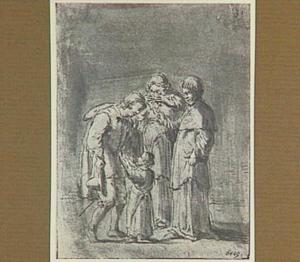 Lazarillo neemt afscheid van zijn familie (Lazarillo de Tormes dl. 2, cap. 1, p. 59)
