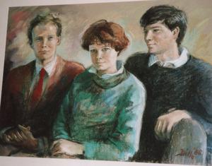 Portret van Pieter Kuypers (1964-?), Clotilde Kuypers (1966-?) en Willem Kuypers (1968-?)