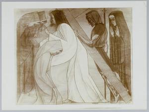Achtste Kruiswegstatie. Jezus spreekt tot de weenende vrouwen