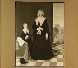 Dubbelportret van een vrouw met haar dochter