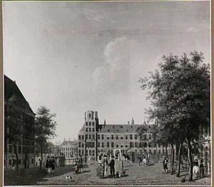 Het Buitenhof gezien naar het Stadhouderlijk Kwartier