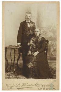 Portret van Coenraad Christiaan Molhuijsen (1838-1910) en Barendina Sophia Michon (1840-1904)