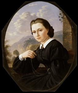 Portret van Maria Henriette Wilhelmina de Jonge van Zwijnsbergen (1843-1926)