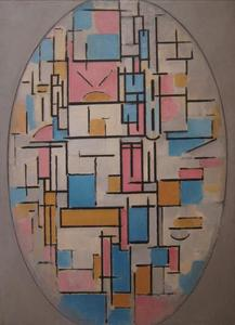 Composition in oval with color planes 1