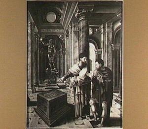 De HH. Paulus en Dionysius voor het altaar van de onbekende god