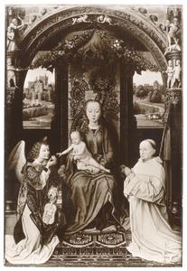 Maria met kind met Christiaan de Hondt (?) en een engel
