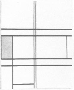Composition (no. IV) blanc-bleu