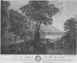 Zuidelijk boslandschap met bergmeer